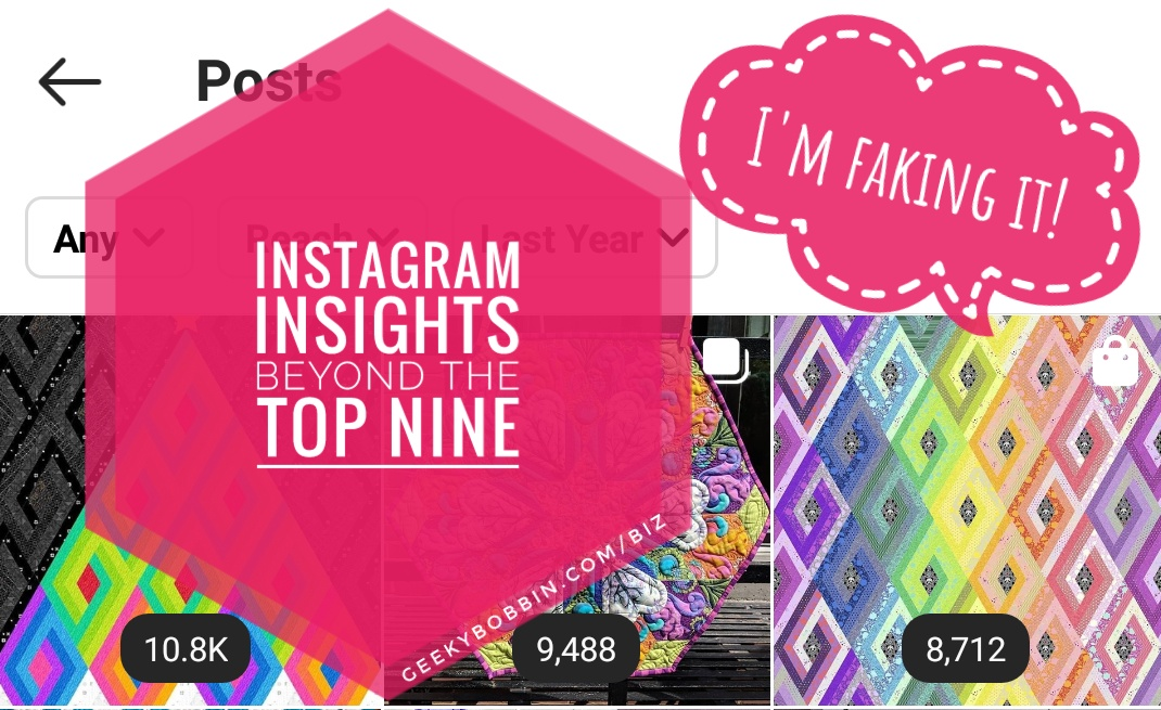 "Beyond the ""Top Nine"" — Finding Patterns in your Instagram Insights"