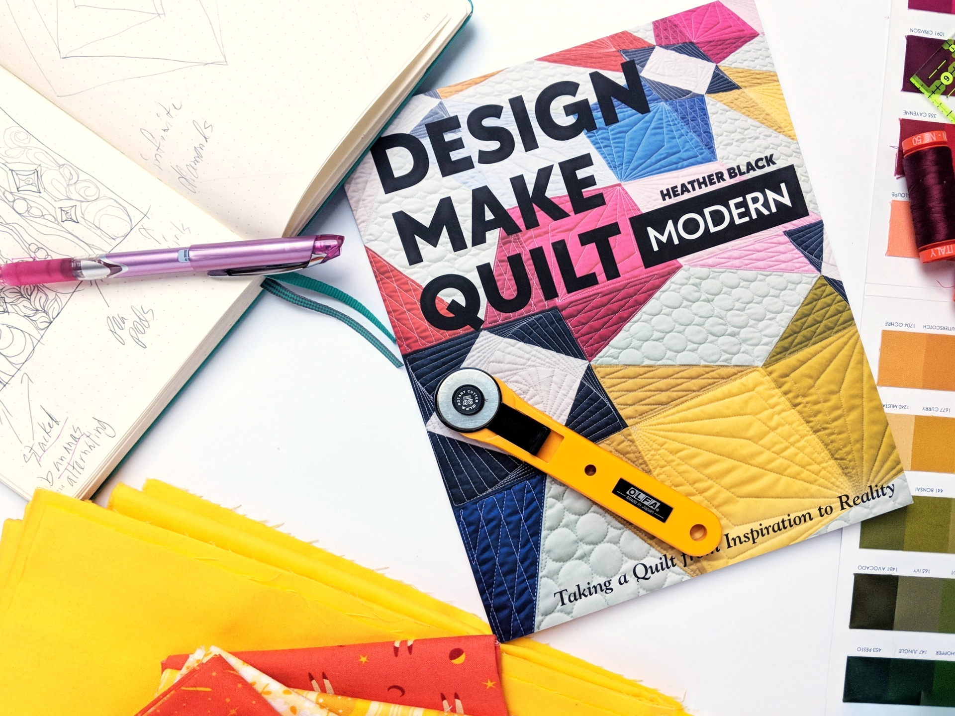 Book Review: Design, Make, Quilt Modern by Heather Black of Quiltachusetts